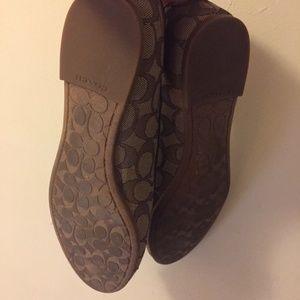 Coach Shoes - Coach Monogram Ballerina Flats